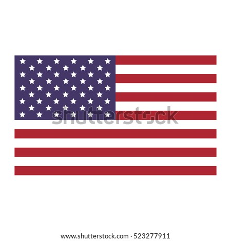 United States flag icon flat