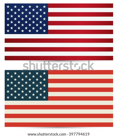 United States flag. USA flag. American symbol.United states flag. Independence day background. United States flag. Flag USA. American flag. Flat USA flag. USA. Flag. Flag of USA. - stock vector