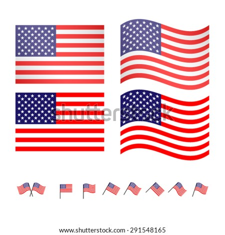 United States Flags 2 EPS10 - stock vector