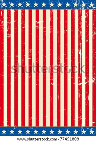 United states grunge background flag A patriotic flag for you - stock vector
