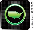 united states icon on black web button - stock vector
