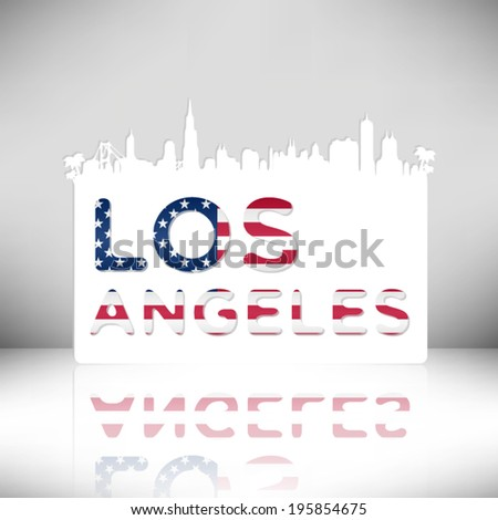 United States of America Cities/States, Los Angeles vector illustration. - stock vector