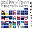 united states of america collection, abstract vector art illustration - stock