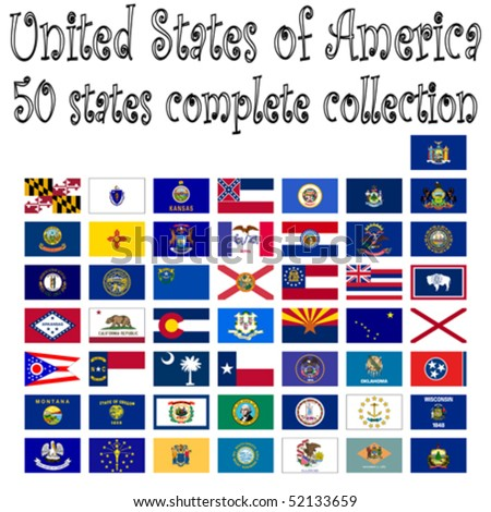 united states of america collection, abstract vector art illustration