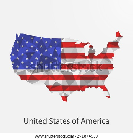 American Flag Triangle Stock Images RoyaltyFree Images Vectors - Us flag map