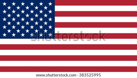 United States of America flag. The correct proportions and color. Vector image
