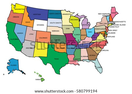 United States America Map Background Stock Vector - United states of anerica map