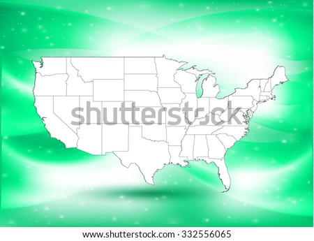 United States of America - Map & Background - Vector Illustration - stock vector