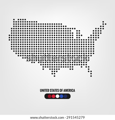 Abstract Map Usa Colorful Background Vector Stock Vector - Cool us map with dots
