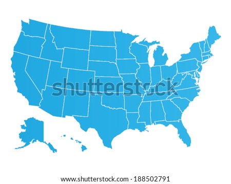 United States of America map Illustration - stock vector