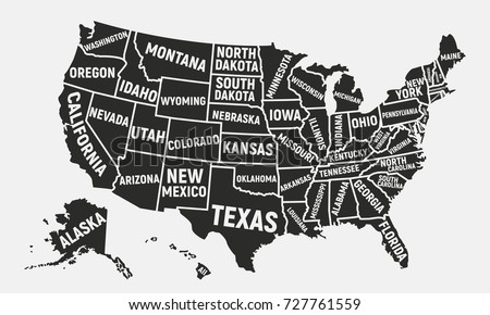 Stock Images RoyaltyFree Images Vectors Shutterstock - Free picture of us map without state names