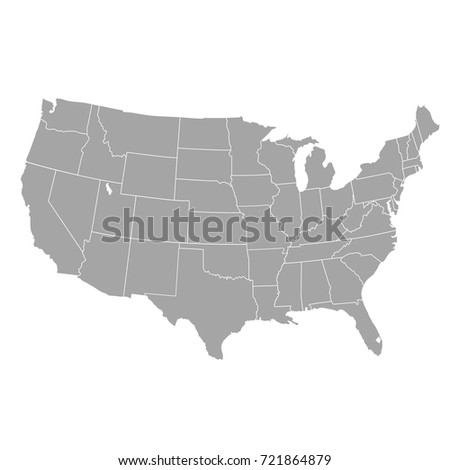 United States America Map Usa Stock Vector Shutterstock - The united states of america map