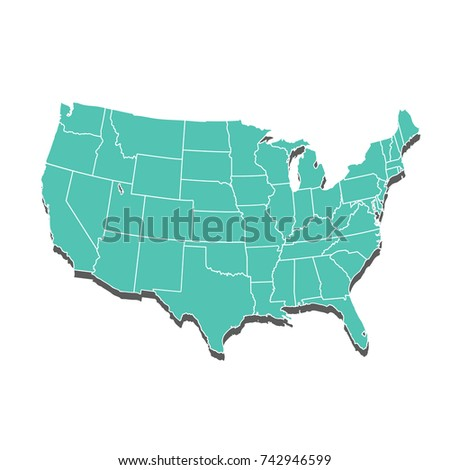 United States America Map Usa Stock Vector Shutterstock - United state of america map