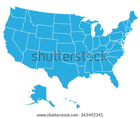 United States America Map Usa Map Stock Vector - A picture of the united states of america map