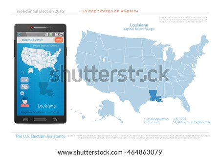 United States Of America Maps And Louisiana State Territory Vector Usa Political Map Us