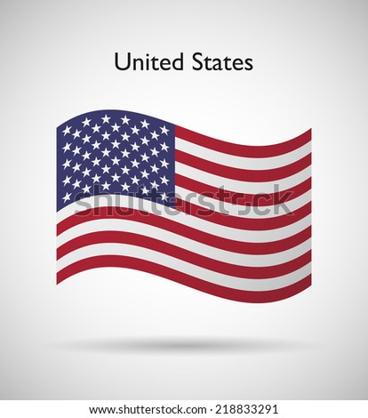 United States of America  official flag isolated illustration  - stock vector