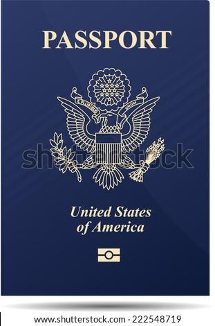 United states of america passport - stock vector