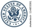 United States of America stamp - stock vector