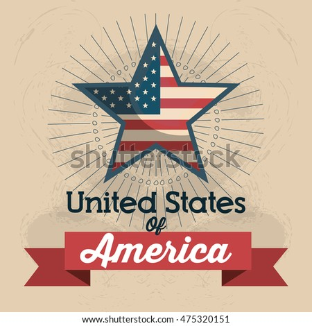united states of america star icon vector illustration design
