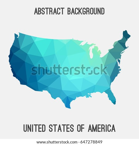 United States America Map Vector Illustration Stock Vector - Us map graphic