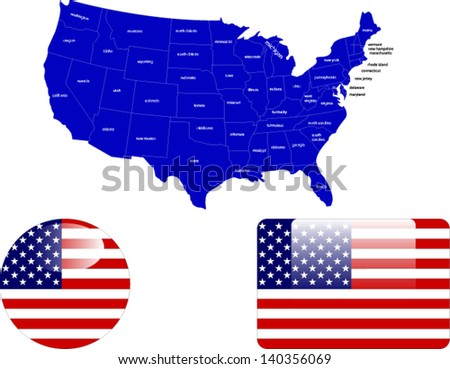 united states of america vector - stock vector