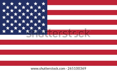 united states of american  Flag for Independence Day and infographic Vector illustration.
