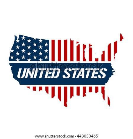 United States Patriotic Map Graphic Vector Design Ilration