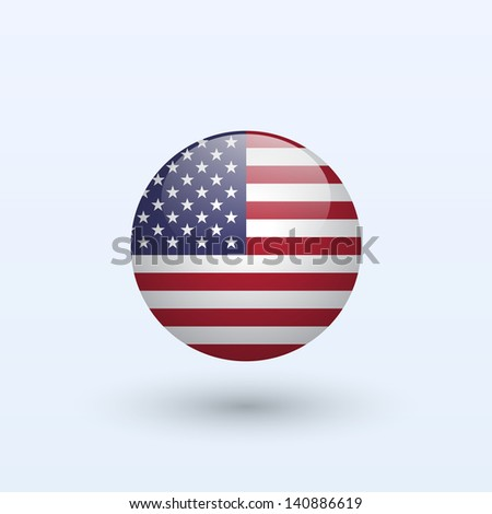 United States round flag. Vector illustration. - stock vector