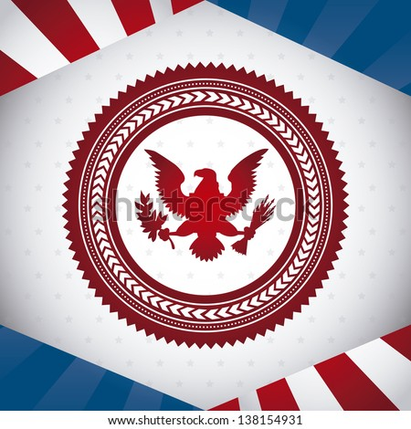 united states symbol, bald eagle. vector illustration - stock vector