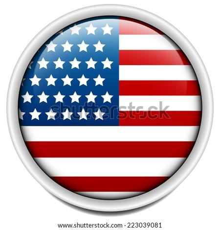 United States, USA flag badge - stock vector