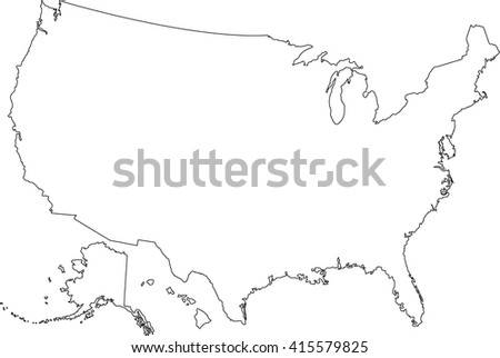United Statesof America map. USA map. Vector - stock vector