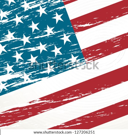 Unites States vintage flag background vector illustration - stock vector