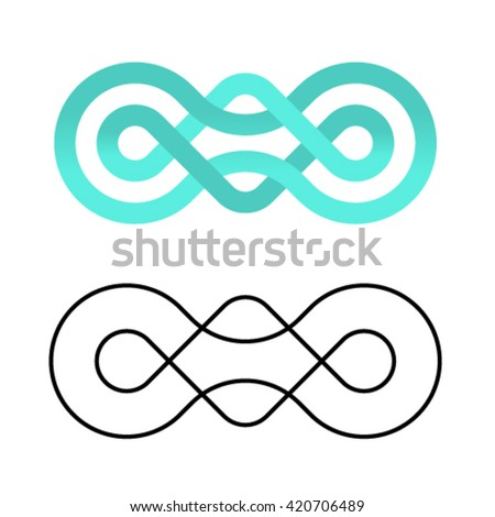 unity community knot design template vector - stock vector