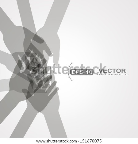 unity hands vector - stock vector