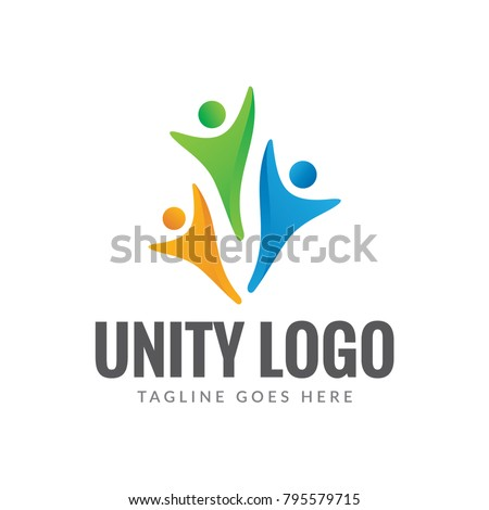 unity people logo icon vector template