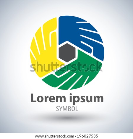 Unity symbol symbol icon. Vector element design. Community unity,solidarity and friendship concept, Logo template design - stock vector