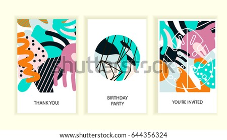 Universal abstract posters set creative abstract stock vector