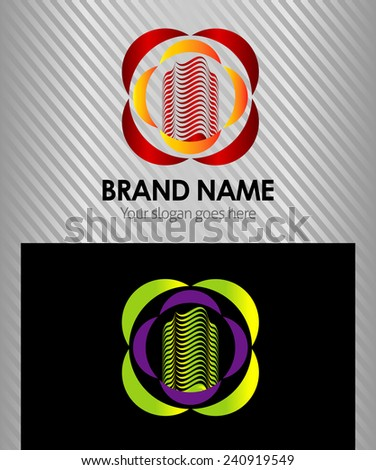 Universal business or building icon logo - stock vector