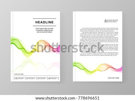 universal covers design gradient wave line stock vector 778696651
