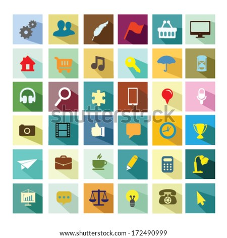 Universal icon collection - stock vector