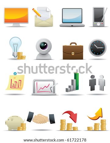 Universal icons Set -- Business Concept Icon - stock vector