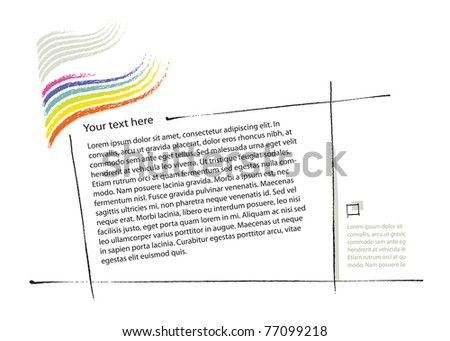 universal page-layout design, freehand drawing elements, vector