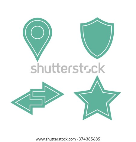Universal sticker icons set. Vector icons - stock vector