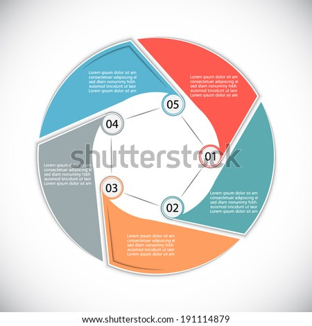 Universal template for your presentation - stock vector