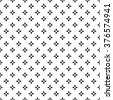 Universal vector black and white seamless pattern (tiling). Monochrome geometric ornaments. Texture for scrapbooking, wrapping paper, textiles, home decor, - stock vector