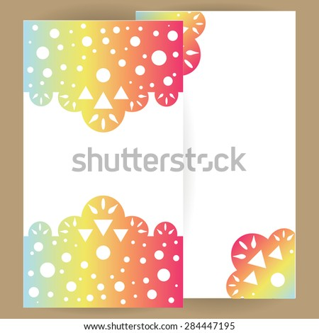 Universal vector card with abstract gradient ornament for wedding, invitation, greeting, celebration, party, congratulation, compliments