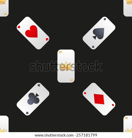 Universal vector casino cards seamless patterns tiling.