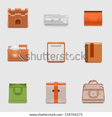 universal vector icon set - stock vector