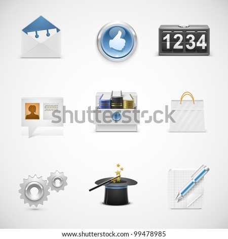 universal vector icons - stock vector