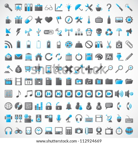 UNIVERSAL VECTOR ICONS FOR WEB AND MOBILE - stock vector